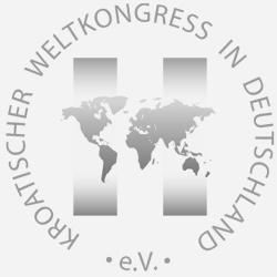 Graues Logo des kroatischen Weltkongresses in Deutschland